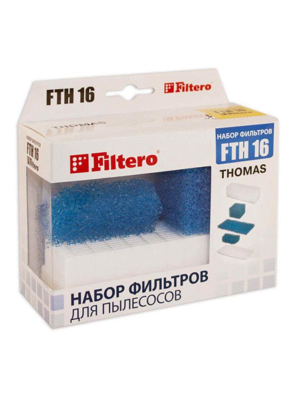 Картинка набор hepa-фильтров для пылесоса thomas filtero fth 16 для пылесоса
