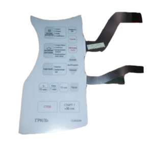 Фото панели управления (мембрана) белая samsung de34-00219h для микроволновой печи